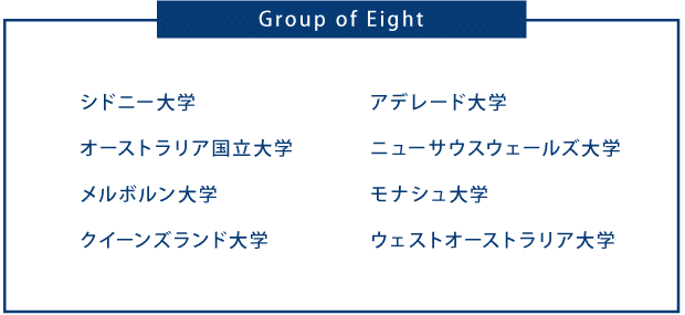 オーストラリア大学 Group of 8